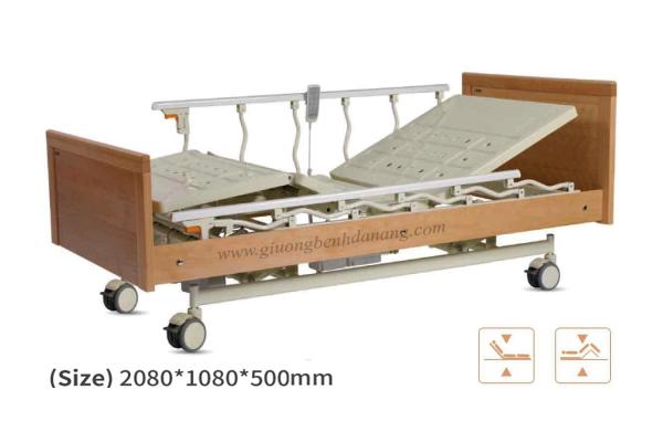 Giường bệnh đa năng MKC-Medical điều khiển bằng điện ốp gỗ hiện đại mã MKC-D04-14