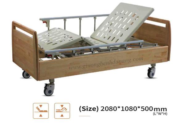 Giường bệnh đa năng MKC-Medical điều khiển bằng điện ốp gỗ hiện đại mã MKC-D04-15