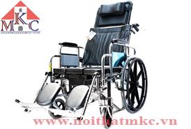Xe lăn cơ MKC- Medical ngả thành giường và có bô vệ sinh