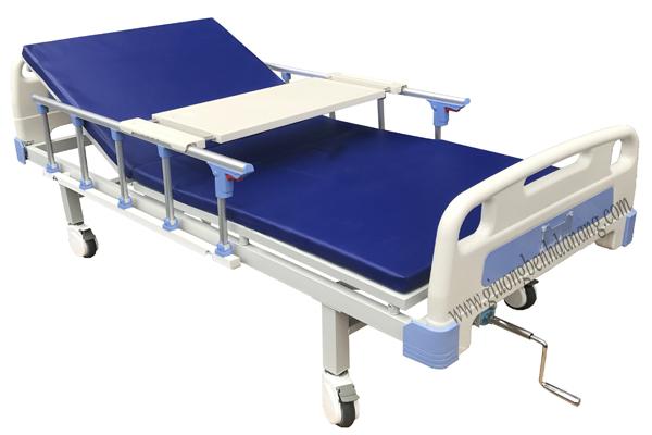 Giường bệnh 1 tay quay di động mã MKC-GB13 ( Hàng đặt dự án)