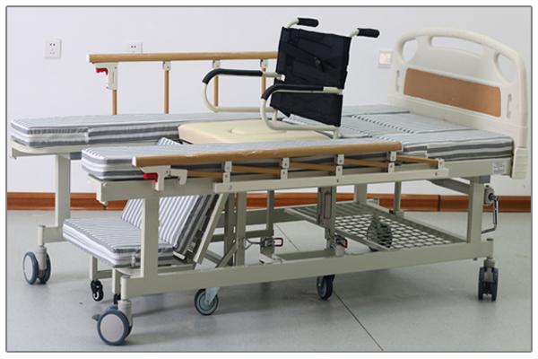 Giường bệnh đa năng MKC-Medical tách thành xe lăn đk tay quay có 8 chức năng mã MKC-GB07B
