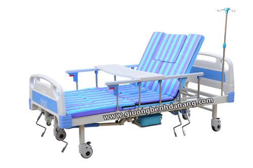 Giường bệnh đa năng MKC-Medical 5 tay quay điều khiển bằng tay quay có 9 chức năng mã MKC-GB02