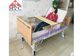 Giường bệnh đa năng MKC-Medical 5 tay quay, ốp gỗ có 11 chức năng năm 2020
